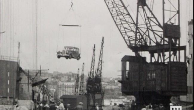 Photogramme issu du film amateur Actualités à Boulogne d'André Delaruelle, entre 1950/1955, 9,5 mm ©Normandie Images